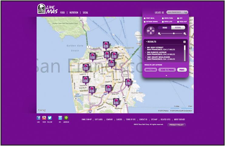 TacoBell.com Store Locator